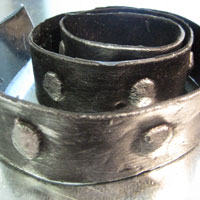 Ремень декоративный Амаро серебро