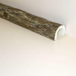 Декоративная балка Кантри под бревно 110x70 - 1 метр, Белый