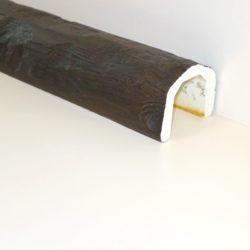 Декоративная балка Кантри под бревно 150x115 - 1 метр, Белый