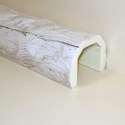 Декоративная балка Кантри под бревно 200x150 - 1 метр, Белый