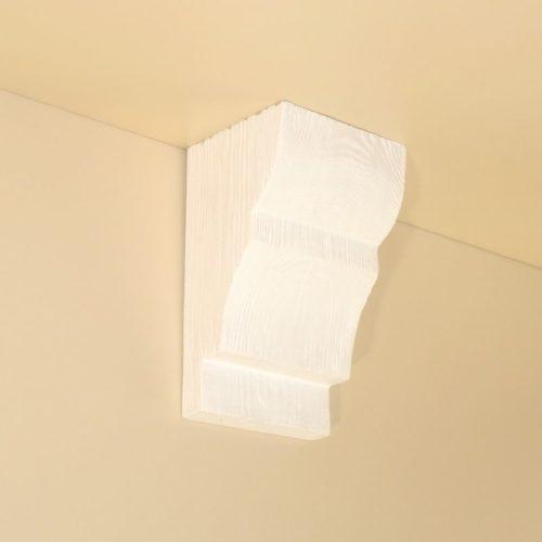 Консоль для балки Кантри 135х85 Классика - Белый