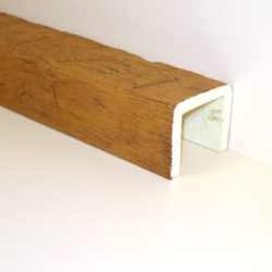 Декоративная балка Кантри 150х120 Рустик - 1.2 метра, Белый