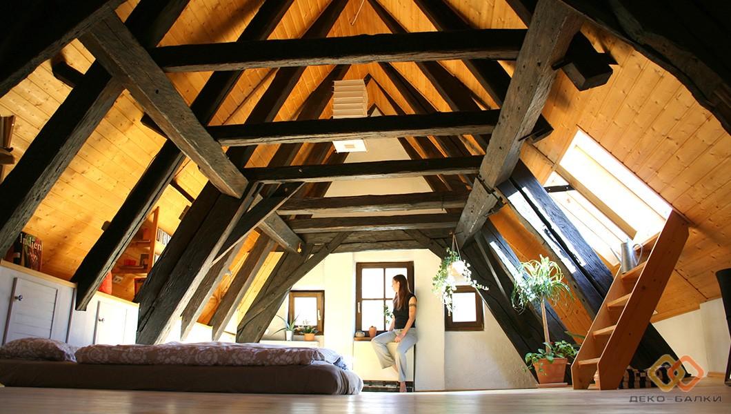 Декоративные балки на потолок из полиуретана. Эко-дизайн
