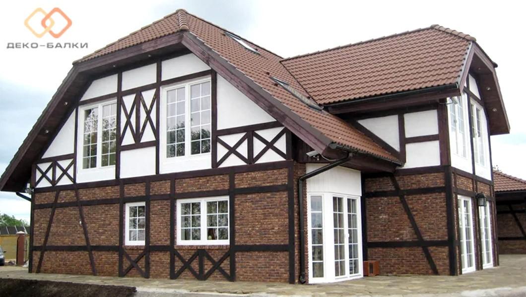 Полиуретановые балки для декорирования фасада дома